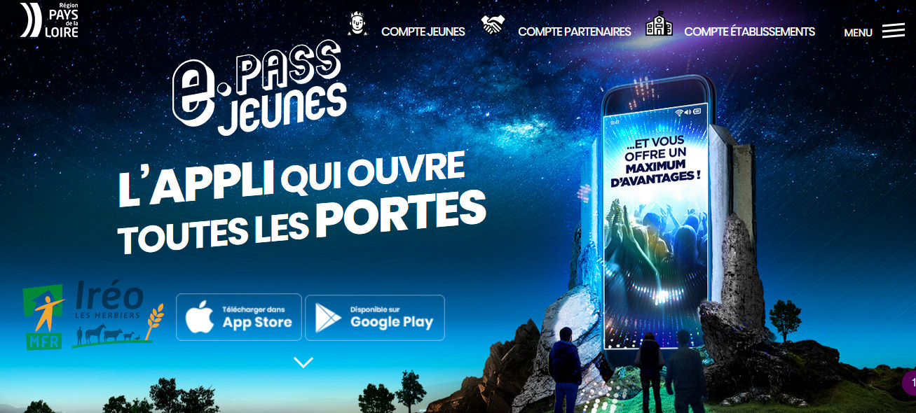 application e-pass du Conseil Régional des Pays de la Loire